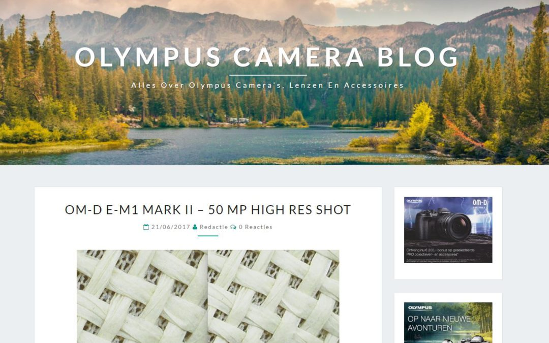 Olympus camera blog