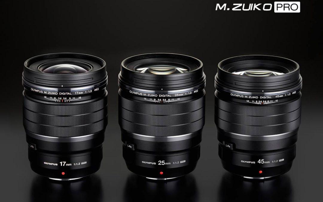 Olympus introduceert de 17mm 1.2 Pro en de 45mm 1.2 Pro